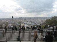 View from the Stairs of Sacre-Coeur